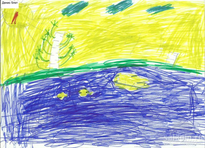 Москва река детские рисунки