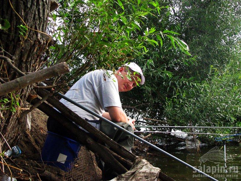 На карасевом водоеме только фидер способен подстраховать рыболова при поимке карпа