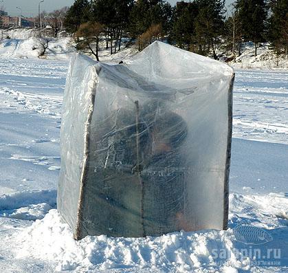 самодельная зимния палатка для рыбалки